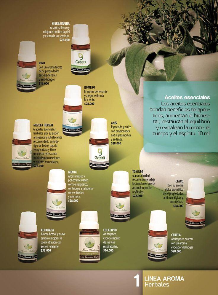 Los productos elaborados con aceites esenciales herbales son excelentes para los dolores musculares o problemas respiratorios, por sus propiedades tienen acciones rubefacientes, desinflamatorias y repelente entre otras. En la aromaterapia son usados como estimulantes y en especial,  el aceite de menta, ayuda a aumentar la capacidad intelectual y la concentración, elimina el dolor de cabeza y es eficaz en el tratamiento de la migraña