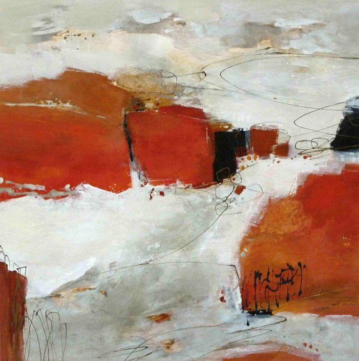 abstrakte Malerei Acryl-Mischtechnik auf Leinwand  1,00 m x 1,00 m