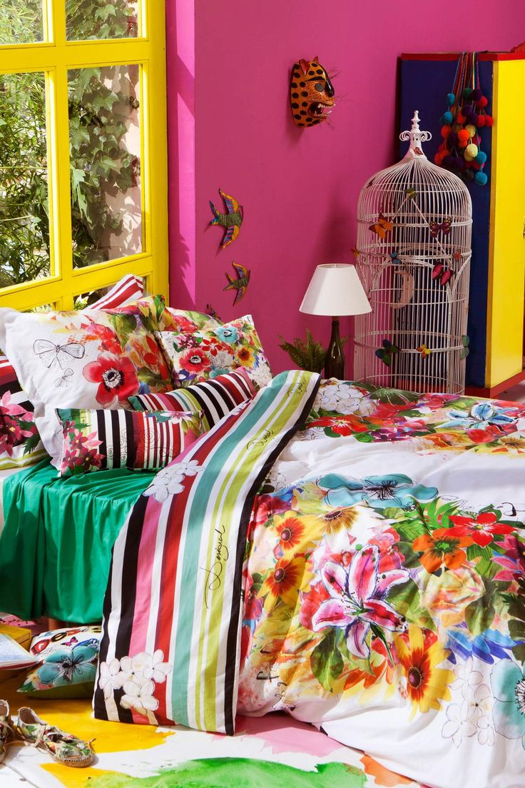 #linealetto #home #casa #letto #Desigual #Jungle #biancheria www.klack.it