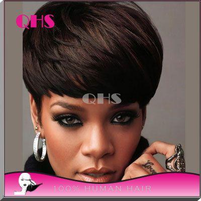 Необработанные бразильский ни полный дешевые парики ни один перед парики короткие волосы парики с ребенком волос парики для чернокожих женщин