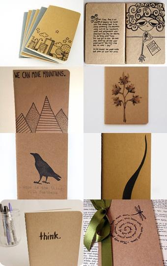 hacer mini libritetias con papel reciclado y tapa de carton