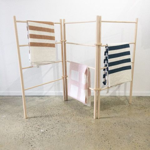 • PRE-ORDER • Wooden Zig Zag Clothes Dryer