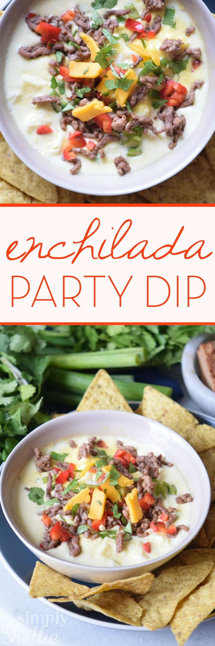 This Beef Enchilada Dip is a Tex Mex twist for your next party dip. It's a…