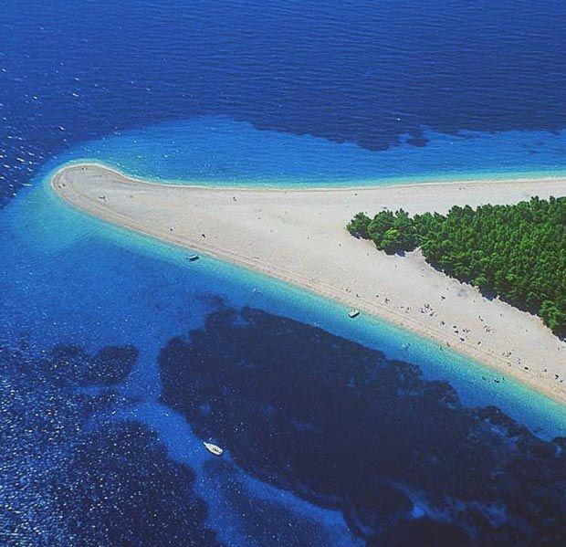 CroatiaBrac Croatia, Favorite Places, Islands Croatia, Visit Places, Pebble Beach, Magic Places, Brac Islands, Zlatni Rats, Croatia Placesidliketogo