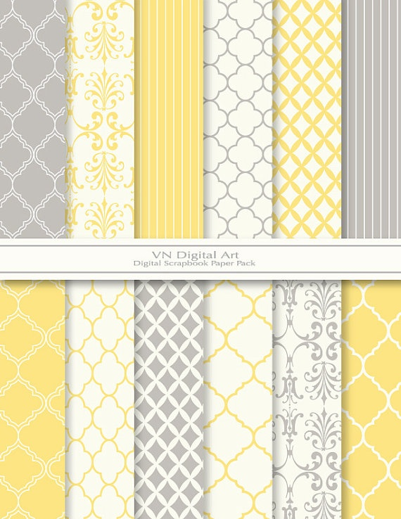 Paper - the ubiquitous yellow and grey/gray color combination