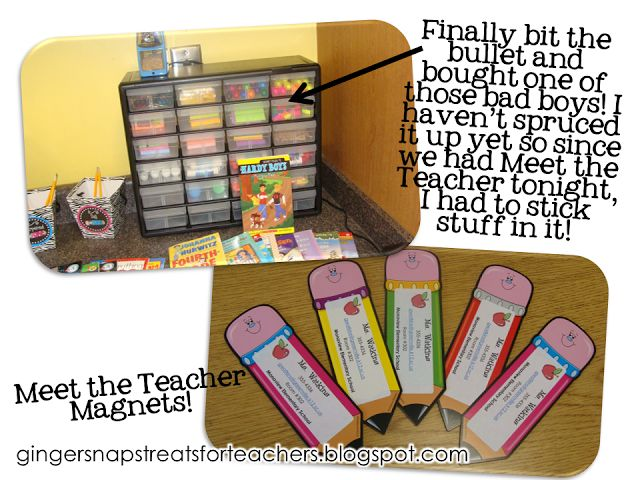 Meet the teacher magnets to give out at meet the teacher! Name and contact info on a cute laminated shape.