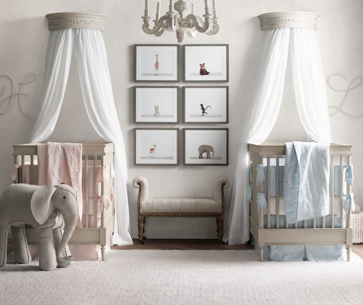 give a twins room a cohesive look with matched furnishings and bedding thats coordinated yet still individualized for each child.