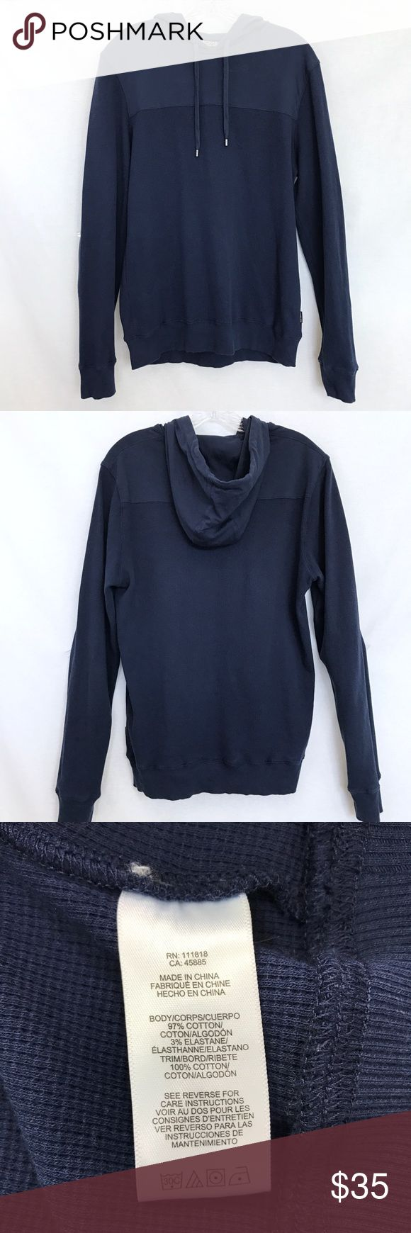 """Michael Kors Hoodie Still in good condition. 27.5"""" Long. Dark Blue Color. Pull over Sweat Shirt. Unisex. 97% Cotton. 3% Elastane Michael Kors Shirts Sweatshirts & Hoodies"""