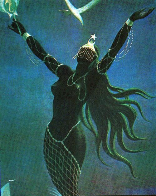 Olokun, the Goddess of the Bottom of the Ocean of the West African Yoruba People