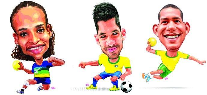Alexandra Nascimento (handebol), Luan (futebol) e Vinícius Teixeira (handebol)…