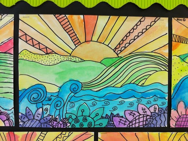1000 ideas about line art projects on pinterest for Landscape art projects