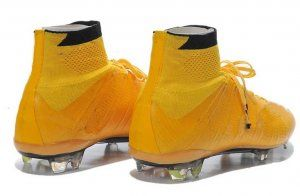 Football Shoes Golden Mercurial Superfly 4 FG Shoes Cleats [C602]