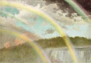 Four Rainbows Over Niagara Falls  Albert Bierstadt
