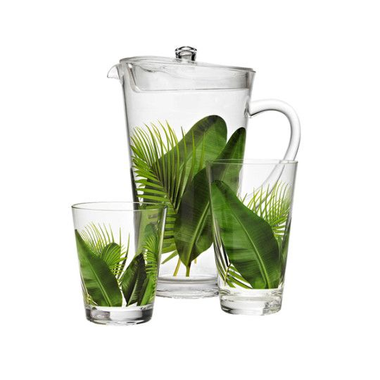 Poolside Palms Acrylic Drinkware - Feel like you're in a tropical paradise any time with this playfully decorated acrylic drinkware. Great for indoor or outdoor use and it's dishwasher safe! - Found at myWebRoom.com