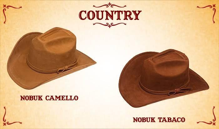#Sombreros modelo country, camello y tabaco.
