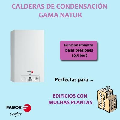 Fagor Confort: Calderas condensación gama Natur ideales para edificios con muchas plantas
