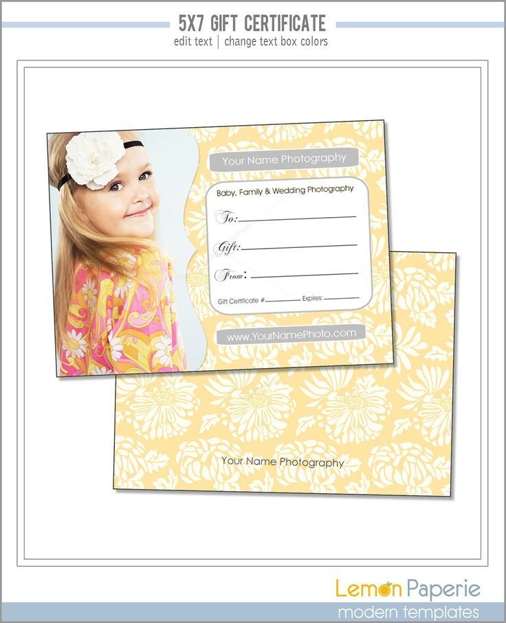 photography gift certificate template free - 37 best images about gift certificate ideas on pinterest
