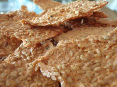 Carrot-cinnamon flax crackers