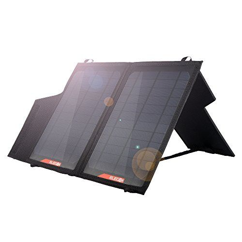ELEGEEK 14W Portable Solar Panel Charger Built in icGEEK Fast Charging with Dual USB Output and Adjustable Stand (14W 5V)  https://topcellulardeals.com/product/elegeek-14w-portable-solar-panel-charger-built-in-icgeek-fast-charging-with-dual-usb-output-and-adjustable-stand-14w-5v/  Exclusive icGEEKTM: Detect your device automatically, and offer a best charging current intelligently, achieve fast charging and prolong your device lifespan. Equipped with VOLTAGE REGULATOR to ensu