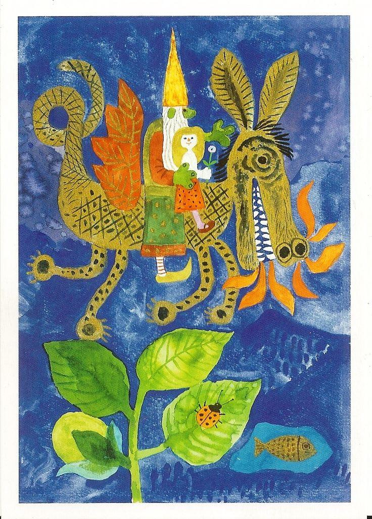 Károly Reich - one-headed dragon - tale illustration