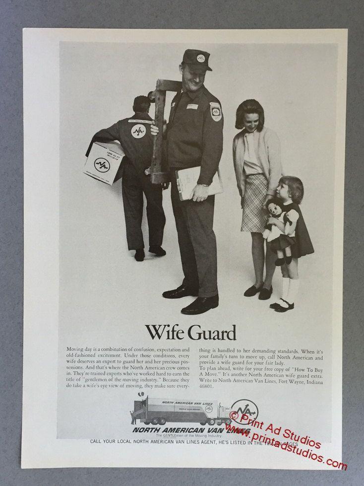 1969 North American Van Lines Print Ad Wife