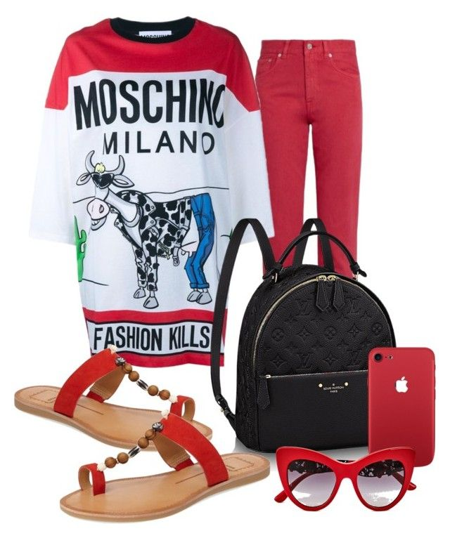 Embellished Tee by evachasioti on Polyvore featuring Acne Studios, Dolce Vita and Dolce&Gabbana