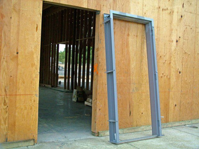 Hollow Metal Doors Can Be Installed In About 15 Minutes Assuming All The Tools Are On Hand And You Kno Hollow Metal Doors Sliding Closet Doors Building A Door