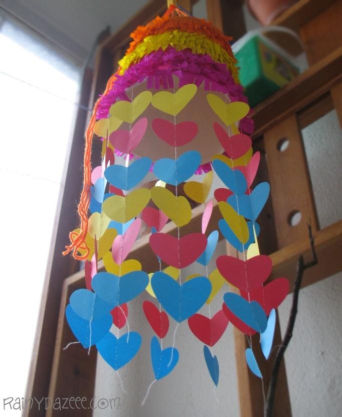 heart chandelier from KFC bucket