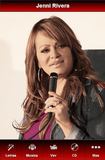 A must have free android app dedicated to Jenni Rivera fans from all over the world. Dolores Janney Rivera, better known as Jenni Rivera, was a Mexican-American Latin Grammy nominated singer-songwriter, actress, television producer, and entrepreneur known for her work within the banda and norteña music genres. Only with our app you'll be able to find all lyrics of songs, listen music, watch many videos in two sections (clips like Cuando Muere una Dama, Paloma Negra, No Llega El Olvido…