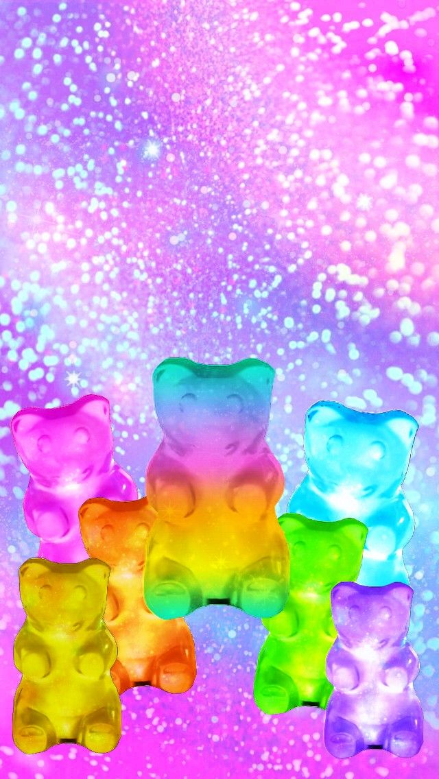 Rainbow Gummy Bears Made By Me Candy Gummybears Glitter