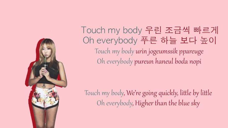 Touch My Body - Sistar Colour Coded Lyrics (HAN/ROM/ENG)