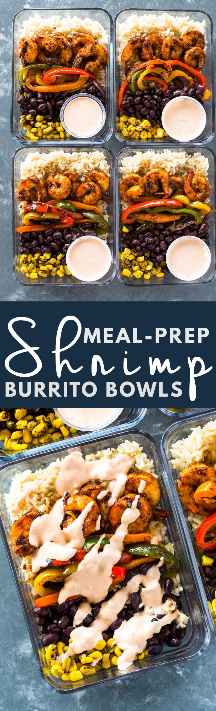 "Meal-Prep ""Minus"" the Shrimp (maybe add Potatoes to make it vegan) Burrito Bowls"