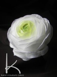 How to Make A Wafer Paper Ranunculus - Tutorial - Cake Central