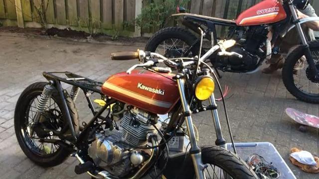 Firing up the engine after a long, long sleep :: Bike - '84 Kawasaki Z200 by @speedtemplecm :: #noexhaust #nofilter