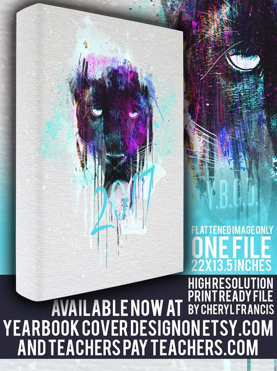 yearbook cover design 2017 painted panther by yearbookcoverdesign - Yearbook Design Ideas