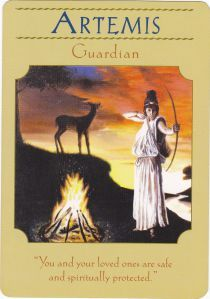 Artemis in Goddess Guidance Oracle Cards by Doreen Virtue