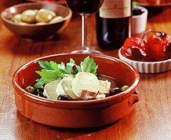 Bilde av Marinert ost og oliven (Tapas).
