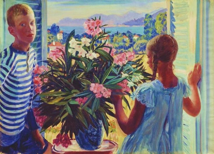 Window view, 1913 by Boris Kustodiev