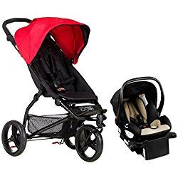 Mountain Buggy Mini Lightweight Travel System, Berry Red