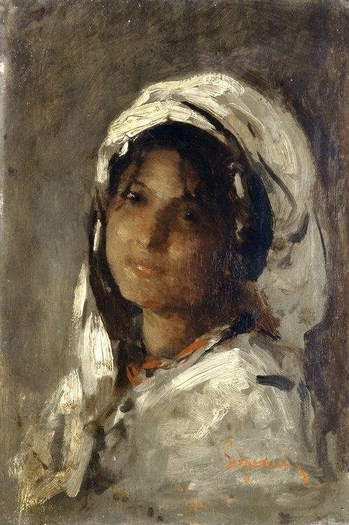 Portrait of a Girl - Nicolae Grigorescu 19th century