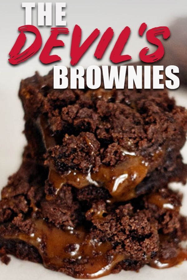 These Cake Mix Brownies Are Made With A Box Of Chocolate Devils