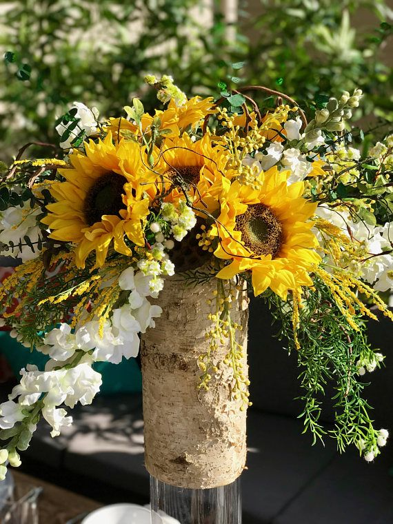 Sunflower Country Flowers Faux Flowers Large Arrangement Sunflower Themed Wedding Bridal