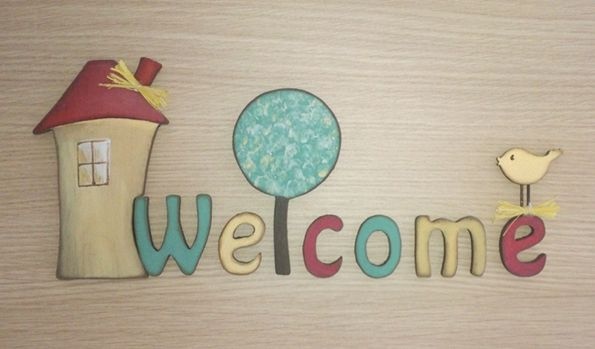 Welcome! Handmade wooden letters