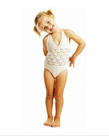 girls crochet swimwear