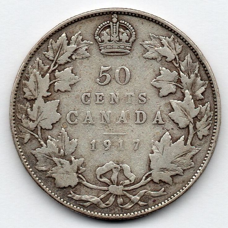 Canada 50 Cent 1917 (Half Dollar) (92.5% Silver) Coin  Price : $18.00  Ends on : 3 weeks Order Now