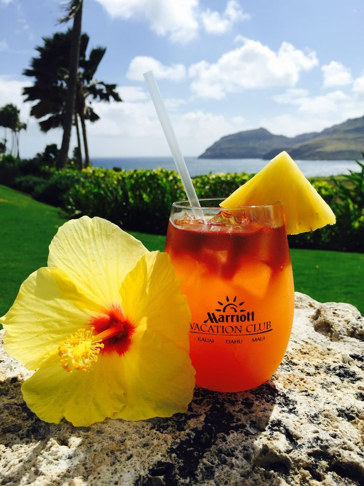 Relax with a cold drink on the beach #marriottvacationclub #Hawaii #travel