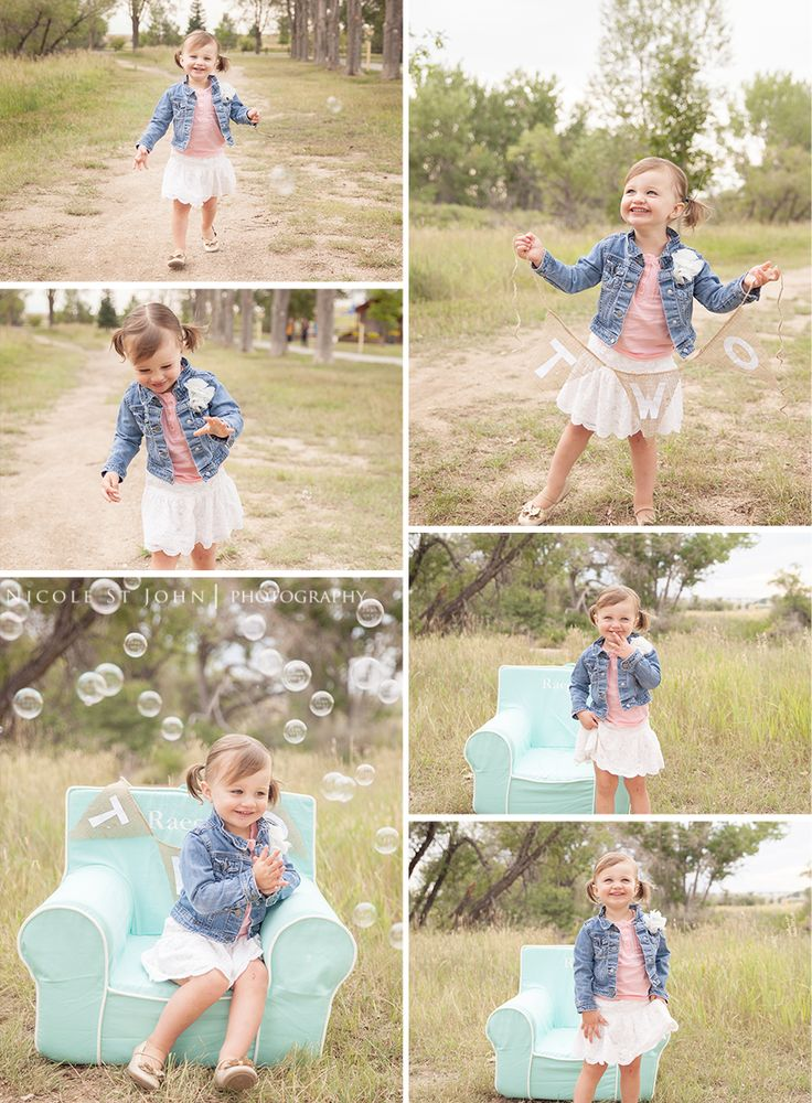 Two year photos | Outdoor photo shoot ideas for toddlers | Nicole St John Photography