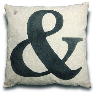 French Style Cushion with '&' Symbol - modern - pillows - brisbane - by The Wooden Crate
