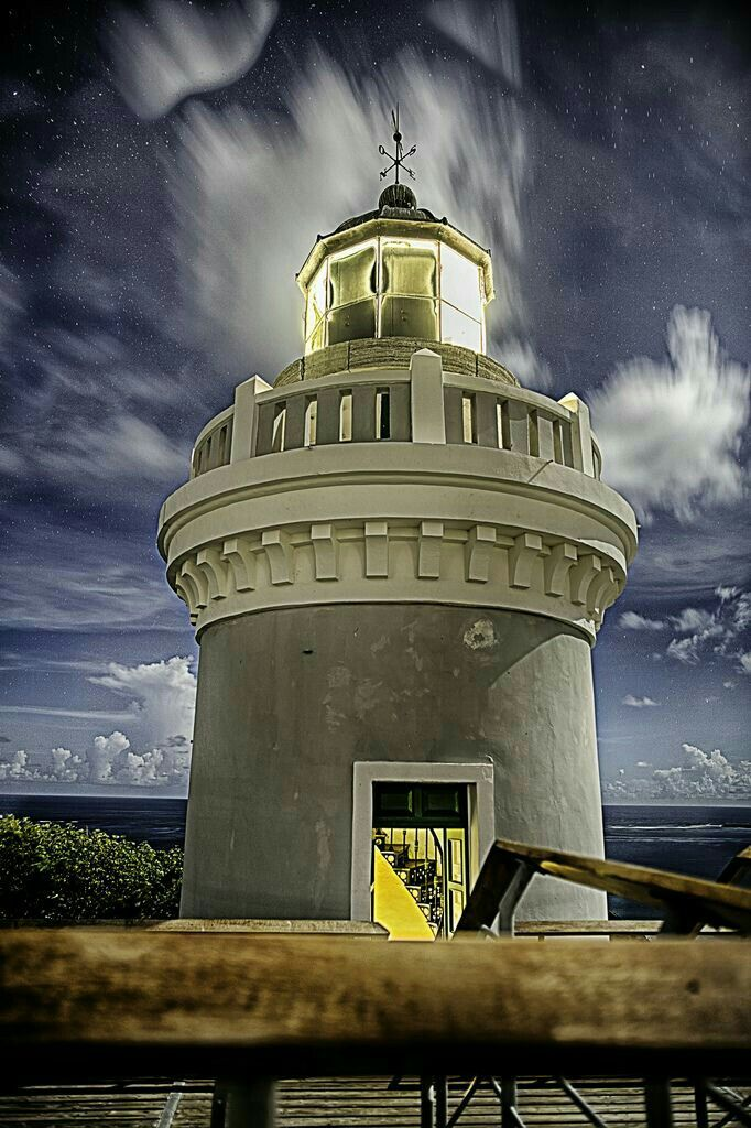 Cape San Juan Light is a historic lighthouse located on the northeastern part of the highest point of Cape San Juan in Fajardo, Puerto Rico. The lighthouse was constructed in 1880 and was officially lit on May 2, 1882.