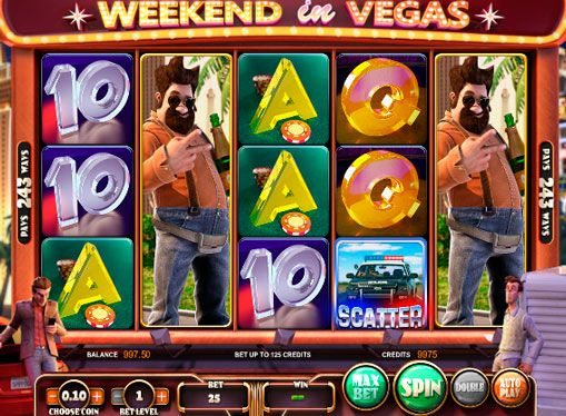 Slots Weekend in Vegas online gambling with cashout. English manufacturer Betsoft Gaming has routinely releases new high-quality 3D slot with fascinating rules. Story of Weekend in Vegas slot machine dedicated to three friends who went to rest and win the money in the world capital of gambling. One important feature of this device is the large
